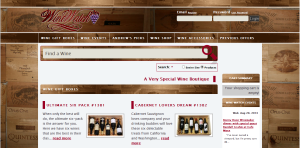Screenshot of Wine Watch Online